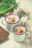 Cold beetroot soup Royalty Free Stock Photo