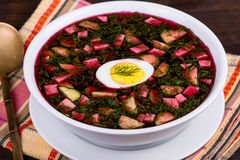 Cold beetroot soup Stock Images