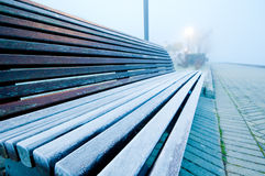 Cold bench Royalty Free Stock Photo