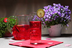 Cold berry mors drink Stock Image