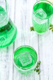 Cold beverage with Woodruff taste Stock Image