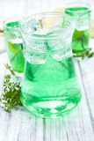 Cold beverage with Woodruff taste Royalty Free Stock Images