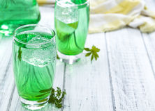 Cold beverage with Woodruff taste Stock Photo