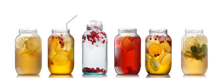 Cold Beverages In Pitchers Stock Photo