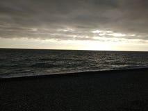 Black winter sea 9. Cold black winter sea. Russia, Sochi stock image