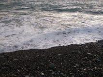 Black winter sea 6. Cold black winter sea. Russia, Sochi stock image