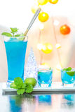 Cold Blue Hawaiian cocktail Royalty Free Stock Image