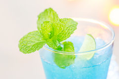 Cold Blue Hawaiian cocktail Stock Photo