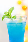 Cold Blue Hawaiian cocktail Royalty Free Stock Photo