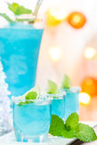 Cold Blue Hawaiian cocktail Royalty Free Stock Photography