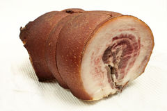 Cold boiled pork. Royalty Free Stock Photo