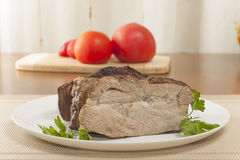 Cold boiled pork Royalty Free Stock Photo