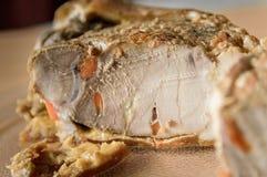 Cold boiled pork stock photo