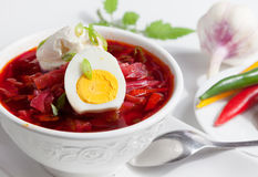 Cold Borsch Soup Royalty Free Stock Image