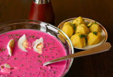 Cold Borscht Royalty Free Stock Images