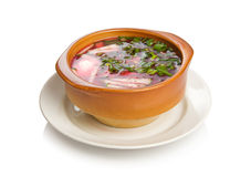 Cold borscht. Russian cold soup borscht Royalty Free Stock Images