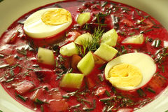 Cold borscht (borshch) Royalty Free Stock Photography