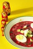 Cold borscht (borshch) stock images