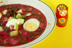 Cold borscht (borshch) Stock Photos
