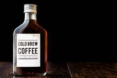Cold brew coffee in a bottle. Stock Image