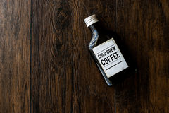Cold brew coffee in a bottle. Royalty Free Stock Photos