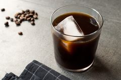 Cold Brew Coffee with Ice stock photography