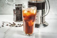 Cold brew iced coffee Royalty Free Stock Images