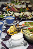Cold buffet. With several dishes Stock Photo