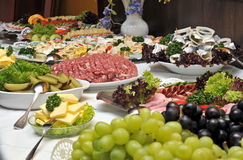 Cold buffet. With several dishes Royalty Free Stock Photo