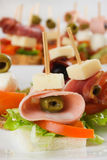 Cold buffet canape Stock Photography