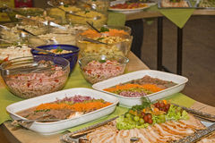Cold buffet with various delicacies Stock Images