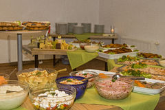 Cold buffet with various delicacies Stock Photos