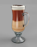 Cold cafe latte in glass Royalty Free Stock Images