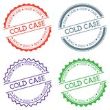 Cold Case badge isolated on white background. Flat style round label with text. Circular emblem vector illustration Royalty Free Stock Image