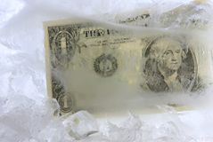 Cold cash Stock Photography