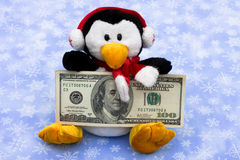 Cold Cash for Christmas Royalty Free Stock Images