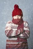 Cold. Casual look. Royalty Free Stock Photo
