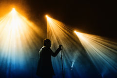 Cold Cave band performs at Jack Daniel's Music Day Festival Royalty Free Stock Image