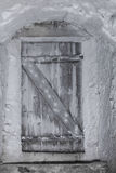 Cold cellar with vintage door Royalty Free Stock Photo