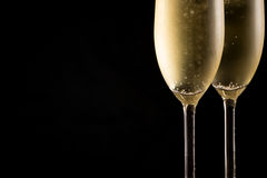 Cold Champagne glasses Royalty Free Stock Image
