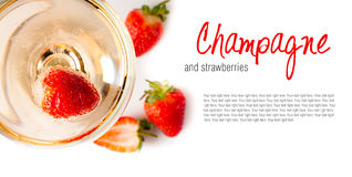 Cold Champagne With Strawberries Royalty Free Stock Image