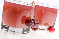 Cold cherry jelly Stock Photography