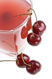 Cold cherry jelly stock photos