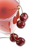 Cold cherry jelly Stock Photos