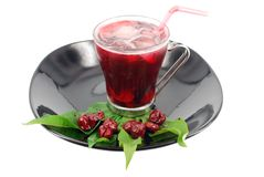 Cold cherry juice Stock Image