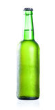 Cold chilled beer in green bottle Stock Image