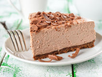 Cold chocolate cheesecake Royalty Free Stock Images