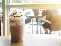 Cold chocolate coffee smoothie beverages Stock Images