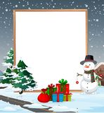 A cold christmas border. Illustration stock illustration
