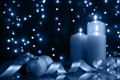 Cold Christmas Evening Stock Photos